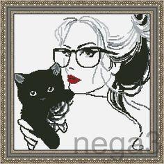 Gallery.ru / Кошечки - Схемки для детей и начинающих вышивальщиц - Nega3