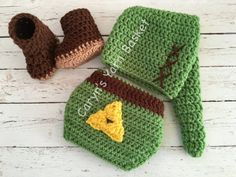 Legend of Zelda Link Crochet Elf Hat and by CarynsYarnBasket