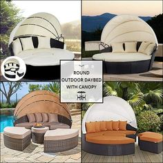 Best Round Outdoor Daybed With Canopy