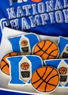 Duke basketball cookies.