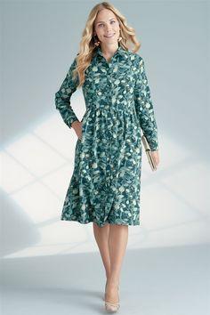 Brushed Cotton Shirt Dress Cotton Shirt Dress, Cotton Dresses, Winter Wardrobe, Occasion Dresses, Cold Weather, Women Wear, Silhouette, Autumn, Pockets