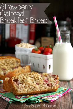 Strawberry Oatmeal Bread