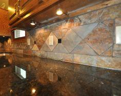 Granite Slate Backsplash And Slate On Pinterest