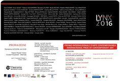 Invito premiazione LYNX 2016 Seong, Lynx, Contemporary Art, Motion Sickness, Modern Art, Contemporary Artwork
