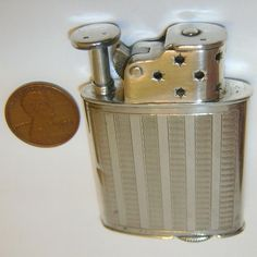 RARE 1929 BRUMA .935 Sterling SILVER Pocket Lighter - STARS windscreen - I have one of these as well.