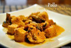 Cocina Varoma: Pollo con queso y albahaca