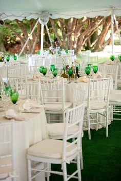 Alicia & Dean    LOVE the green goblets!    *PhotoPink rocks