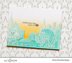 Sketchy Cities America 2 Stamp Set - Altenew  - 2