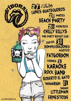 #girl #punk #rock #skull #poison #poster #illustration #azucenagonzalez