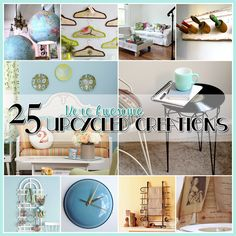 25 More Awesome Crafts Ideas! | Just Imagine - Daily Dose of Creativity.  http://justimagine-ddoc.com/crafts/25-more-awesome-crafts-ideas/