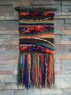 Ideas Wall Tapestry Woven Fiber Art For 2019 Art Fibres Textiles, Textile Fiber Art, Weaving Textiles, Weaving Art, Weaving Patterns, Tapestry Weaving, Loom Weaving, Hand Weaving, Wall Tapestry