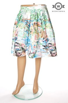 >> Wzorzysta rozszerzana #midi spódnica #Wzorcownia online #Atmosphere