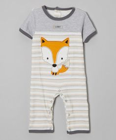 a4d6ac9d39c5 Blue  amp  Orange Stripe Fox Playsuit - Infant by