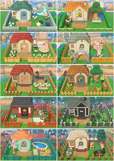 I finished all my villagers' yards! : ac_newhorizons Animal Crossing 3ds, Cabello Animal Crossing, Animal Crossing Wild World, Animal Crossing Villagers, Animal Crossing Qr Codes Clothes, Animal Crossing Pocket Camp, Animal Games, My Animal, Ac New Leaf
