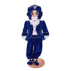 Costum băieței prinț accesorizat cu redingotă, cămașă cu vestă și jabou, băscuță cu pene si botoșei Materiale folosite:  catifea, bumbac, tafta, dantelă Prețul afișat include 5 piese Costumes, Casual, Fancy Dress, Costume, Random, Casual Clothes