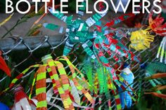 Plastic Bottle Flowers --Gotta try this!  What a great way to recycle old plastic bottles!