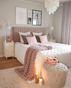 Home decor bedroom – Home Decor Ideas Advice Today Teen Bedroom Designs, Bedroom Decor For Teen Girls, Cute Bedroom Ideas, Room Ideas Bedroom, Teen Room Decor, Home Decor Bedroom, Diy Bedroom, Gold Bedroom, Blush Bedroom Decor
