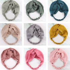 Hair Accessories Women Headbands Bandage For Women Girls Head Scrunchie Soft Elastic Flamingo Hair Bands Cross Knot,Stripe 2,One Size
