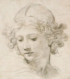 Pietro da Cortona (1596–1669), Head of an Angel.