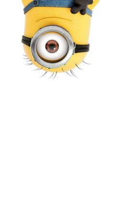 I think everyone knows who or what the minions are by now. They are small yellow creatures featured in Despicable Me and Despicable Me Minions Eyes, Cute Minions, Minions Despicable Me, My Minion, Funny Minion, Minion Stuff, Evil Minions, Minion Wallpaper Iphone, Disney Wallpaper