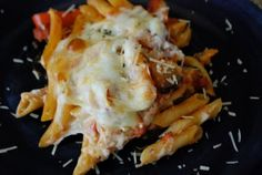 Pasta Al Forno Vegetarian - one of our favorites, I make it vegan by leaving off the cheese.