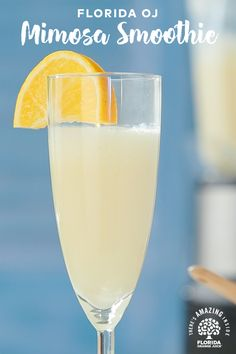 Tired of having plain and boring mimosas? Blend together Florida Orange Juice, vanilla yogurt and champagne to make a delicious Mimosa Smoothie. Pair with your favorite brunch classics for the perfect party!