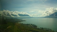 Swiss Alps, Lake Lausanne, Switzerland Romantic Road, Swiss Alps, Lausanne, Switzerland, Airplane View, River, City, Outdoor, Outdoors