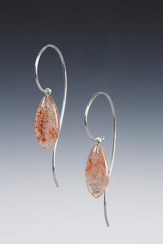 Sterling and Sunstone drop earrings.