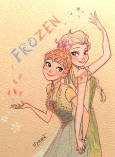 frozen fever magic of sisters love, happy birthday Anna Disney Princess Drawings, Disney Sketches, Disney Drawings, Cute Drawings, Art Sketches, Drawing Disney, Disney Kunst, Arte Disney, Disney Fan Art