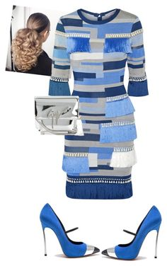 """""""Untitled #674"""" by cogic-fashion on Polyvore featuring Hervé Léger, Giuseppe Zanotti and Casadei"""
