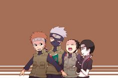 Yamato captain, Hatake Kakashi, Nara Shikamaru and Sai