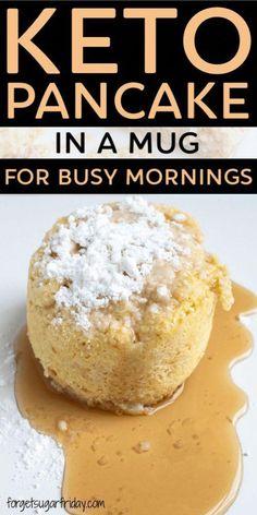 Keto Bread Recipe No Xanthan #KetoFlour Pancakes In A Mug, Low Carb Pancakes, Breakfast Pancakes, Breakfast Cereal, Breakfast Casserole, Mcdonalds Breakfast, Breakfast Cups, Breakfast Gravy, Breakfast Omelette