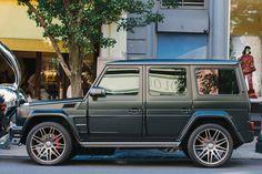Brabus Mercedes G-Wagen matte green in SOHO NYC