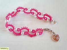 Tamara ART: Frivolité / Tatting bracelet (free pattern)