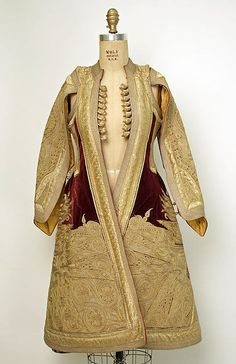 Coat Srbija? Coat Date: 19th century Culture: European, Eastern Medium: silk, metallic Dimensions: Length at CB: 40 1/2 in. (102.9 cm) Credit Line: Gift of Mr. Alan L. Wolfe, 1956 Accession Number: C.I.56.6.3