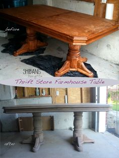 Farmhouse tables with light wood and trestle orpedestal bases are my favourite style for dining and I was determined to make it work in our small kitchen and on a small budget. Many tables in the ...