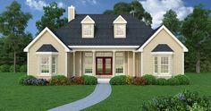 #designpinthurs Affordable Ranch House Plan http://www.thehousedesigners.com/plan/affordable-ranch-4676/ #RanchHousePlan