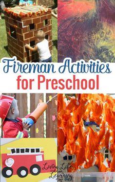 Fireman activities for preschool