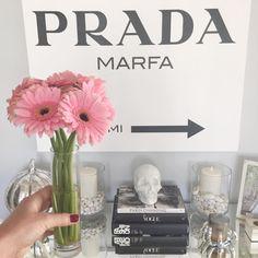blooms + books + prada