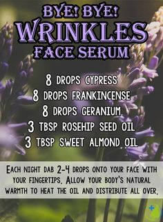 Learn how to get rid of wrinkles naturally using essential oils. I include my 3 favorite lotion blend recipes that have worked wonders for me!