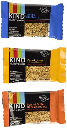 Kind Healthy Grains Granola Bars, Super Variety 3-pack (Each Flavor 1.2 Oz X 5 Count Box) -Peanut Butter Dark Chocolate   Vanilla Blueberry   Oats and Honey Coconut >>> Be sure to check out this awesome product.