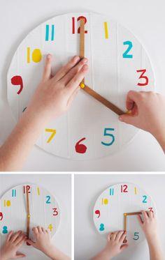 Manualidades infantiles para aprender las horas