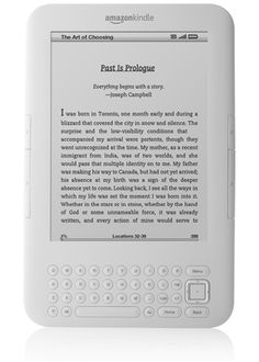Amazon Kindle in White, $139