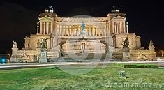 Photo about Nicest touristic place in the world. Rome by night. Image of colorful, summer, long - 107385487 Long Exposure, Rome, Mansions, Night, World, House Styles, Places, Summer, Image