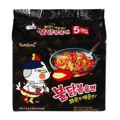 Samyang Hot Chicken Flavor Ramen ( Oz) x 5 Pack Around The World Food, Peach Syrup, Homemade Ramen, Ramen Noodle Recipes, Junk Food Snacks, Chicken Parmesan Recipes, Tasty, Yummy Food, Hot Soup