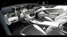 Mercedes-Benz Concept Style Coupe Design Interior Sketch
