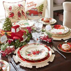 Oh, what fun it is to dine on a special Christmas plate. Our heirloom-worthy Winter's Wonder pattern has all the makings of a family tradition. Crafted of solid ironstone, each piece features a border of holiday greenery and red holly berries. Pier One Christmas, Christmas Red Truck, Christmas China, Christmas Dishes, Christmas Tea, Country Christmas, Purple Christmas, Coastal Christmas, Christmas Christmas