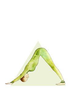 Down Dog Pose #yoga #illustration