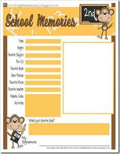 {free} School Memories MEGA Pack from Living Life Intentionally School Memories, School Days, School Stuff, Free Homeschool Curriculum, Homeschooling, Mega Pack, Back To School Activities, School Readiness, Memory Books