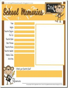 {free} School Memories MEGA Pack from Living Life Intentionally
